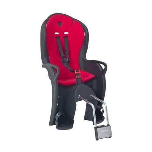 Hamax Fotelik rowerowy kiss czarno-czerwony darmowy transport (7029775510432)