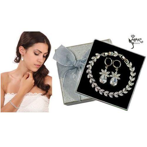 Mak-biżuteria Kpl879 komplet ślubny, biżuteria ślubna z cyrkoniami b599/424 k599/521