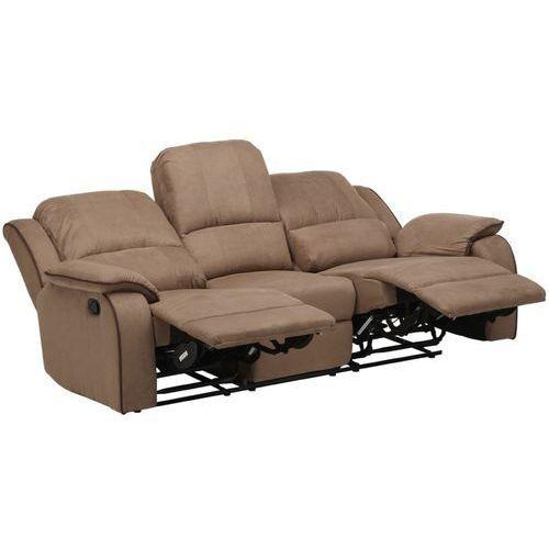 3-osobowa sofa z funkcją relaks z mikrofibry HERNANI - Czekoladowy, kolor brązowy