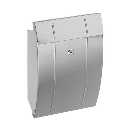 Skrzynka na listy 37.5 x 24.5 x 11.7 cm srebrna a4 marki Standers