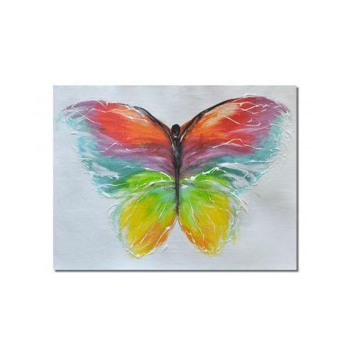 Motyl, nowoczesny obraz ręcznie malowany (obraz)