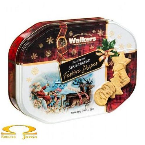 Ciasteczka maślane pure butter shortbread świąteczne kształty puszka 350g marki Walkers