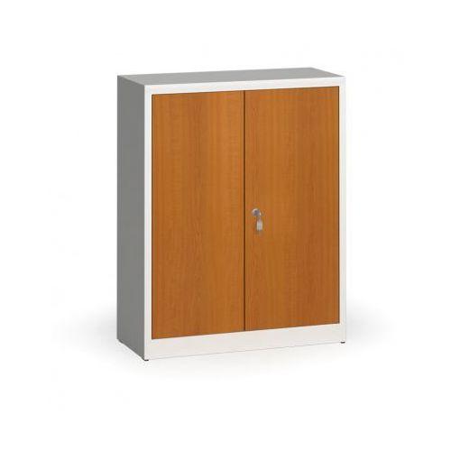 Szafy spawane z laminowanymi drzwiami, 1150 x 920 x 400 mm, ral 7035/czereśnia marki Alfa 3