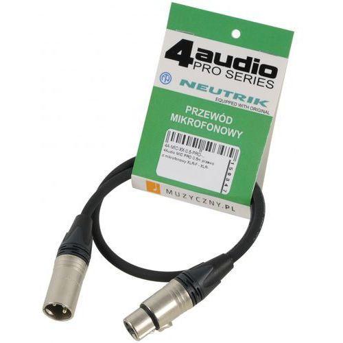mic pro 0,5m przewód mikrofonowy xlr-f - xlr-m neutrik marki 4audio