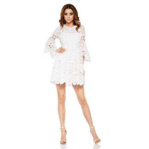 Romantyczna sukienka z koronki L262 ekri