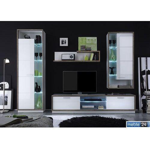 Gem Szafir model 3 - Meblościanka z oświetleniem ze sklepu meble24sklep