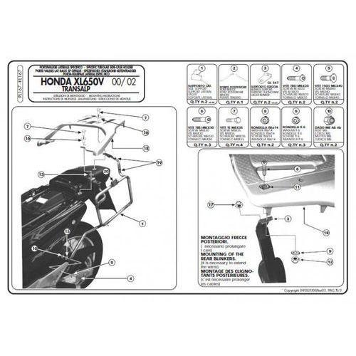Stelaż boczny kl167 transalp xl 650 (00-07) marki Kappa