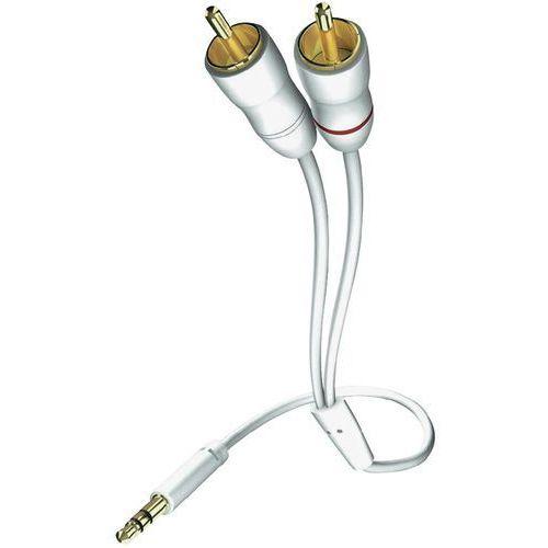 Inakustik Kabel audio, cinch / jack 00310007, [2x złącze męskie cinch - 1x złącze męskie jack 3,5 mm], 7.50 m, biały