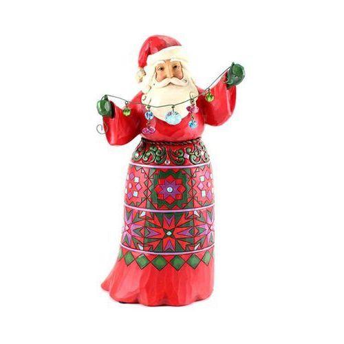 """Mikołaj z pozytywką """"Deck The Halls"""" limitowana seria Santa Year After Year You Make Christmas Sparkle pozytywka 4059002 Jim Shore figurka ozdoba świąteczna"""