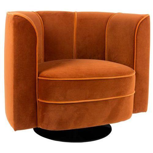 Fotel flower lounge pomarańczowy pomarańczowy aksamit/welur tak marki Dutchbone