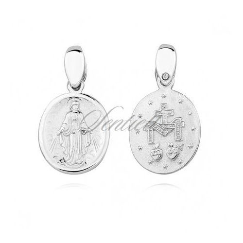 Sentiell Silver (925) doublesided pendant - miraculous virgin mary / blessed virgin mary - ks0190c