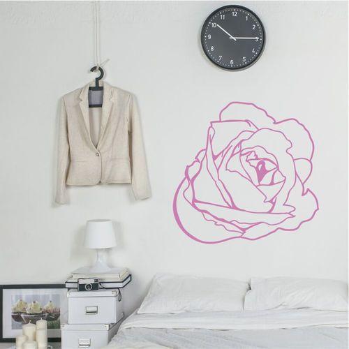 Wally - piękno dekoracji Szablon na ścianę kwiat 2082