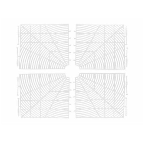 Osłona zabezpieczenie doniczki 4-50cm A-PLAST - biały (7301234501251)