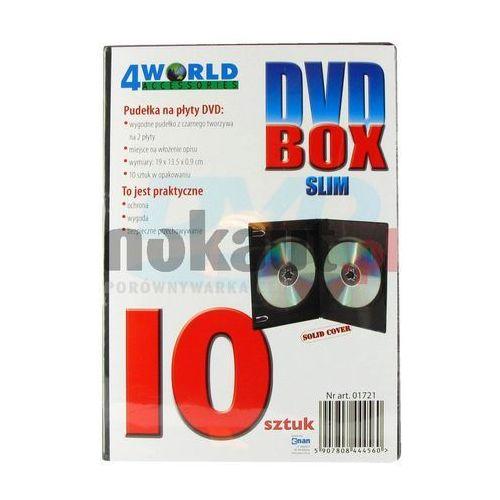 pudełka na płyty cd/dvd slim 10szt, marki 4world