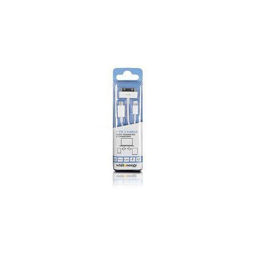 Kabel do przesyłu danych, wtyczka USB 2.0 na micro USB /iPhone4/iPhone5, biały (kabel transmisyjny do telefonu)