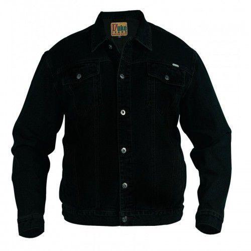 trucker duża kurtka jeans czarna marki Duke