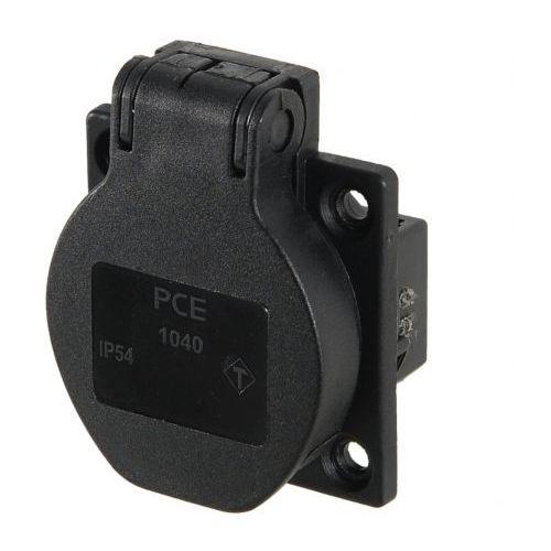 PCE gniazdo tablicowe z bolcem 16A/230V IP54 czarne