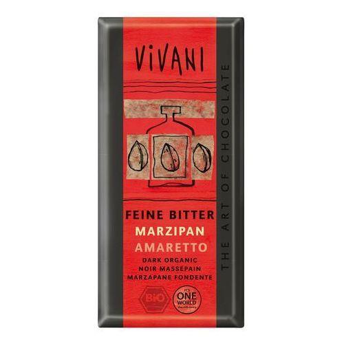 : czekolada gorzka z marcepanem i amaretto bio - 100 g marki Vivani