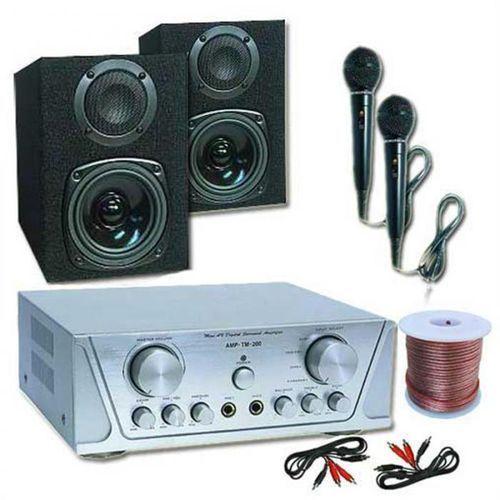 Elektronik-star Zestaw hva 200+mc 130, 2 mikrofony, karaoke