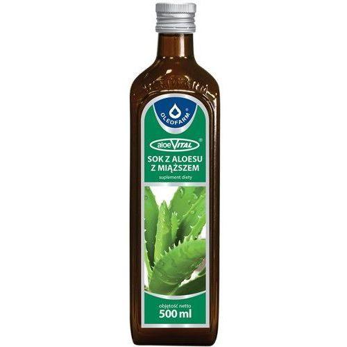 Oleofarm Sok z aloesu z miąższem 99,8% 500ml (5907078675633)