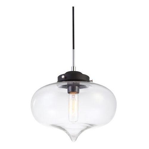 Skandynawska LAMPA wisząca HEART MDM2096/1 C Italux szklana OPRAWA zwis szkło dymione (5900644405283)