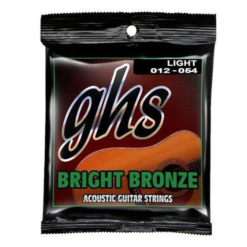 GHS Bright Bronze struny do gitary akustycznej, 80/20 Bronze, Light,.012-.054