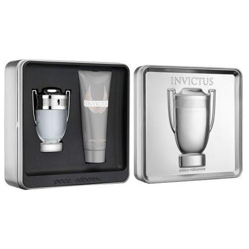 Paco rabanne invictus m zestaw perfum edt 100ml + 100ml żel pod prysznic (3349668530830)