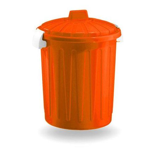 Kosz na śmieci Pojemnik na odpady Round Orange 50L - produkt dostępny w twojekosze.pl