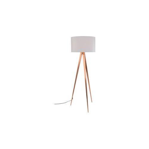 Zuiver lampa podłogowa tripod copper biały 5100054 (8718548027633)