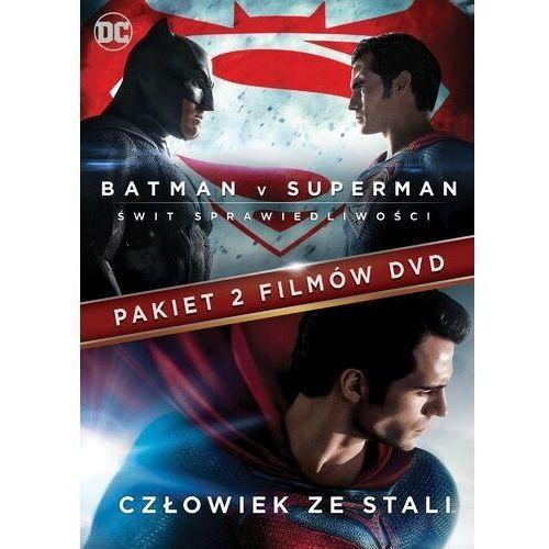 Zack snyder Batman vs superman: świt sprawiedliwości/człowiek ze stali (2dvd)