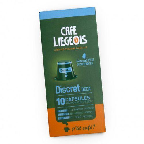 """Café liégeois Kawa w kapsułkach """"discret deca"""", 10 szt. (5411651800225)"""
