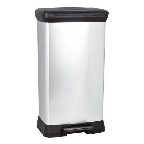 Kosz na śmieci metalizowany z pedałem 50l - produkt dostępny w OLE.PL