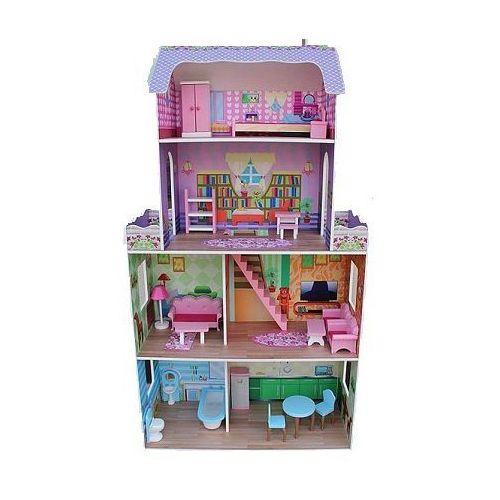 Czteropiętrowy drewniany domek dla lalek GERARDO'S TOYS 36319 (domek dla lalek) od Baby-Maxx