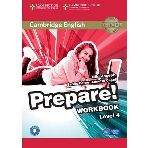 CAMBRIDGE ENGLISH PREPARE! 4 WORKBOOK WITH AUDIO*natychmiastowawysyłkaod3,99 (2015)
