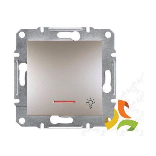Schneider electric Asfora wyłącznik zwierny przycisk światło podświetlany brąz eph1800169 schneider