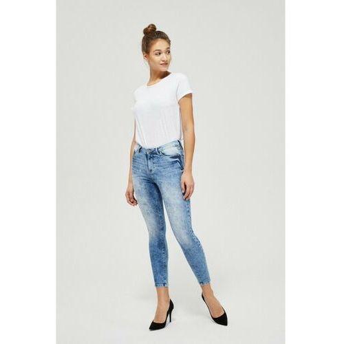 Spodnie jeansowe typu rurki 8l40a7, Moodo