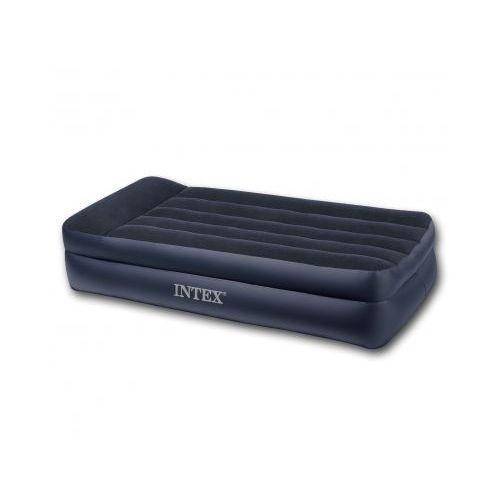 Puszysty materac z wbudowaną pompką elektryczną Intex jednoosobowy, produkt marki vidaXL