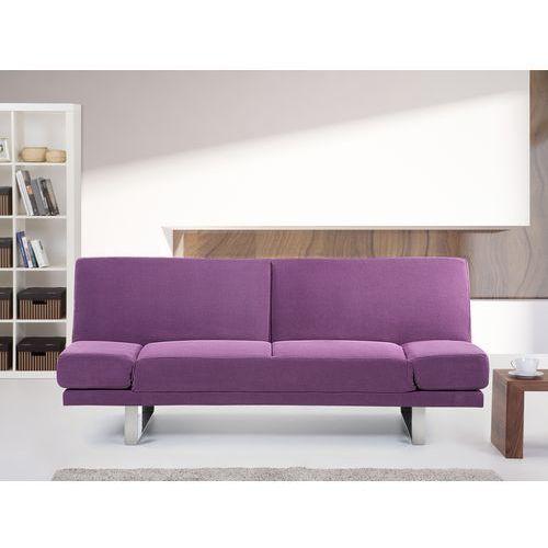Sofa z funkcją spania fuksja - kanapa rozkładana - wersalka - YORK