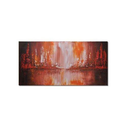 City line, abstrakcja, nowoczesny obraz ręcznie malowany (obraz)