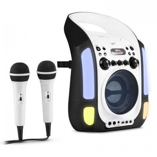 Auna Kara illumina zestaw karaoke cd usb mp3 pokaz świetlny led 2 x mikrofon mobiny czarny