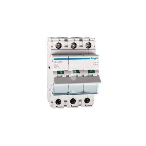 Rozłącznik modułowy 63a 3p sbn363 marki Hager