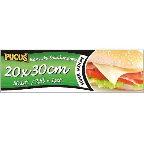 Woreczki śniadaniowe ldpe 50 sztuk 20x30 cm marki Pucuś