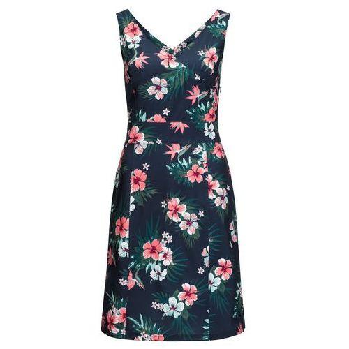 Sukienka WAHIA TROPICAL DRESS midnight blue all over - M