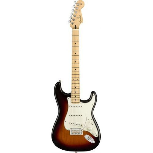 Fender player stratocaster 3-color sunburst gitara elektryczna, klonowa podstrunnica