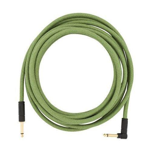Fender festival pure hemp green 18,6ft kabel gitarowy 5,6m, jack prosty - jack kątowy