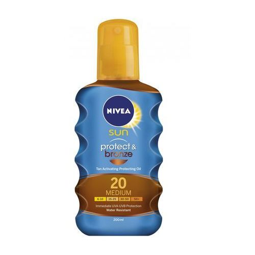 sun protect & bronze oil spray spf20 200ml w opalanie marki Nivea
