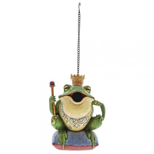 Zaczarowany książe żaba budka lęgowa Frog Prince Birdhouse 6001444 Jim Shore królik vintage biały