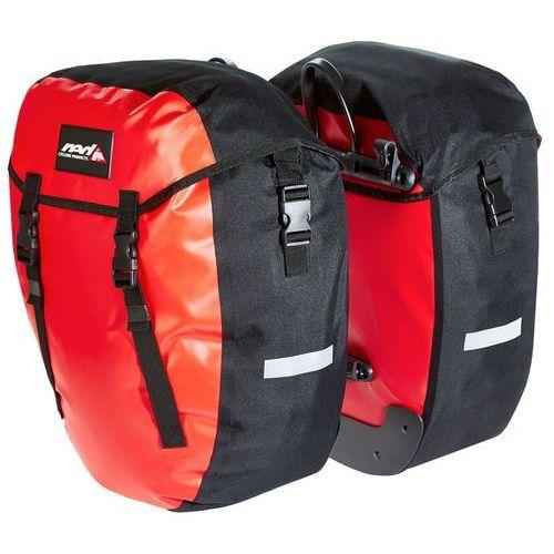 Red cycling products urban twin torba rowerowa, red 2019 sakwy