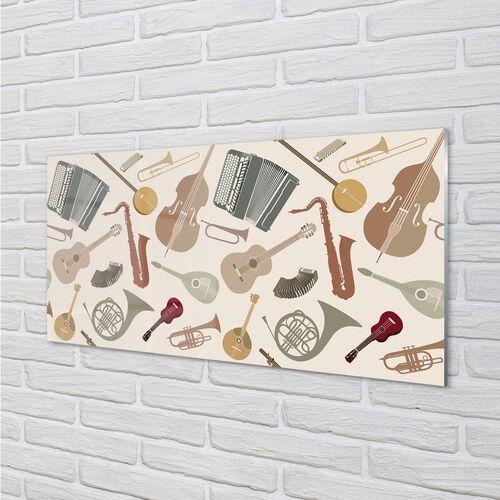 Tulup.pl Szklany panel skrzypce trąbka ukulele