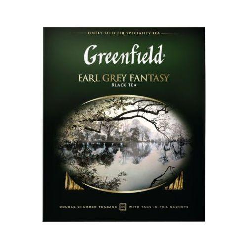 100x2g earl grey fantasy herbata czarna ekspresowa marki Greenfield